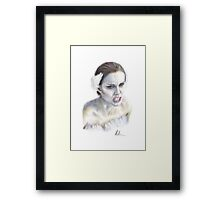 Natalie Portman as Nina Sayers / The Black Swan Framed Print