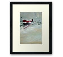 Rose of England, Staithes Harbour Framed Print