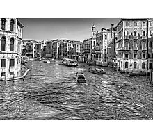 North from the Rialto Bridge - B&W Photographic Print