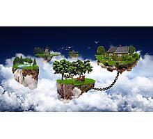 Flying land Photographic Print
