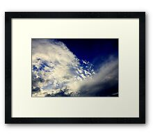 A splatter full of clouds Framed Print
