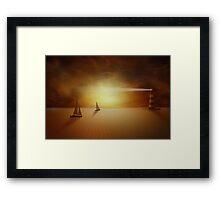 Desert fantasy Framed Print