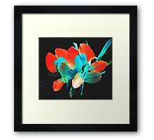 Colorized White Orchid Framed Print