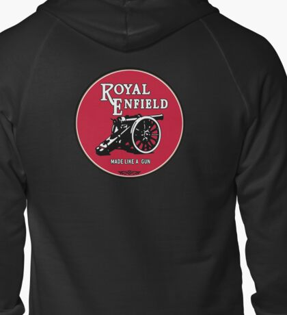 Classic Motorcycle Logos - Royal Enfield Zipped Hoodie