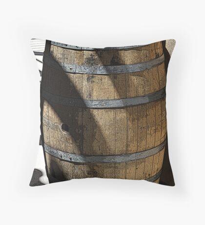 Wine Barrel Throw Pillow
