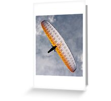 Sunlit Paraglider Greeting Card