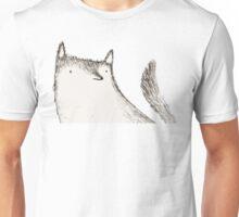 Gray Fluffy Wolf Unisex T-Shirt