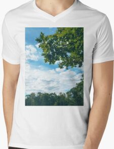 Trees Against Clouds in Boothbay Mens V-Neck T-Shirt