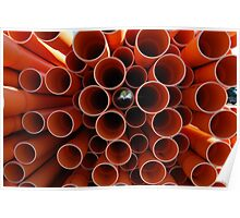 Plastic Pipes Poster