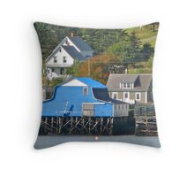 Tiverton Waterfront, Long Island Throw Pillow