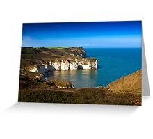 Coastal View Flamborough Head - East Yorks. Greeting Card