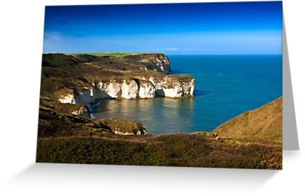 Coastal View Flamborough Head - East Yorks. by Trevor Kersley