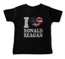 I Heart American Flag Ronald Reagan Baby Tee