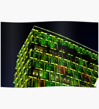 Council House in green mode Poster