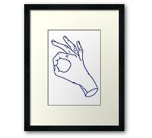 nice hands Framed Print