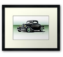 1934 Ford 'Fifties Style' Hot Rod Coupe Framed Print