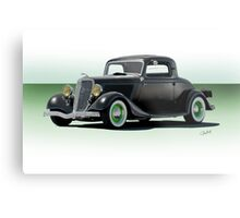 1934 Ford 'Fifties Style' Hot Rod Coupe Metal Print