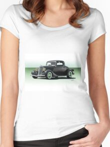 1934 Ford 'Fifties Style' Hot Rod Coupe Women's Fitted Scoop T-Shirt