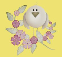 Cutie Bird .. perched among the flowers .. kids tee Kids Clothes