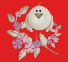 Cutie Bird .. perched among the flowers .. kids tee Baby Tee