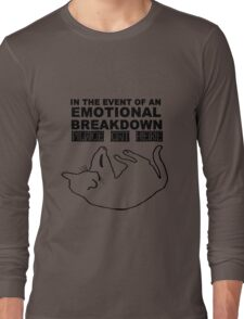 Emotional breakdown place cat here geek funny nerd Long Sleeve T-Shirt