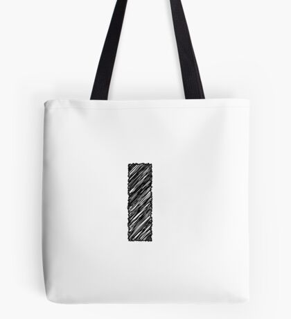 Sketchy Letter Series - Letter L (lowercase) Tote Bag