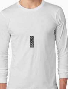 Sketchy Letter Series - Letter L (lowercase) Long Sleeve T-Shirt