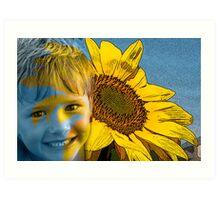 Son Flower Art Print