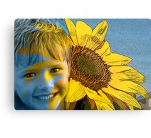 Son Flower Metal Print