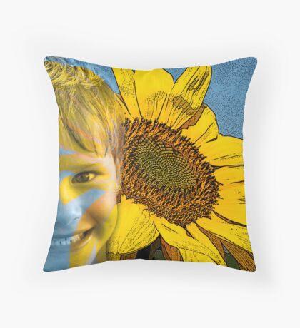 Son Flower Throw Pillow