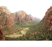 Descending from Angels Landing 2  Photographic Print