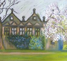 Cherryblossomtime at East Riddlesden Hall by Susan Duffey