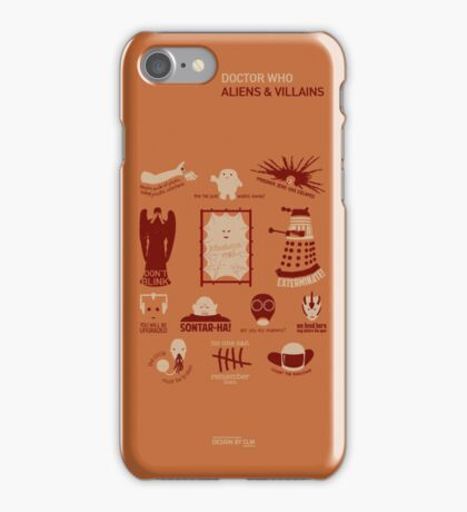 Doctor Who | Aliens & Villains (alternate version) iPhone Case/Skin