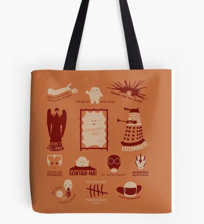 Doctor Who |Aliens & Villains (alternate version) Tote Bag