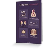 Doctor Who | Story Arcs Greeting Card