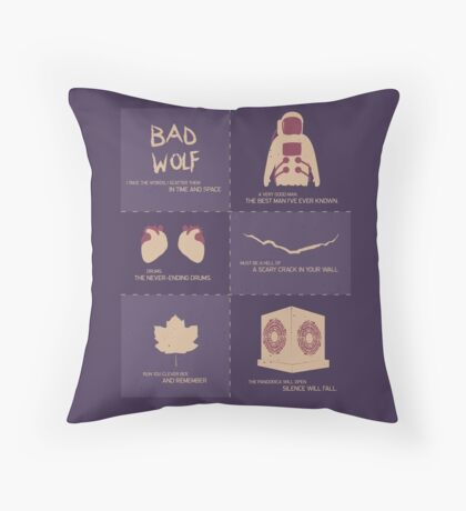 Doctor Who  Story Arcs Throw Pillow