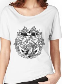 Mermaid Anchor Lines Women's Relaxed Fit T-Shirt
