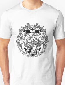 Mermaid Anchor Lines Unisex T-Shirt