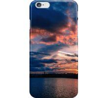 Sun is down, Boston College, MA iPhone Case/Skin