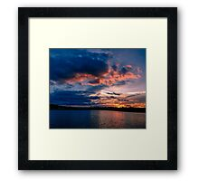 Sun is down, Boston College, MA Framed Print