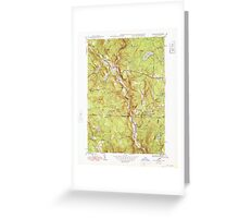 Massachusetts  USGS Historical Topo Map MA Tolland 352253 1948 31680 Greeting Card