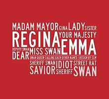 Swan Queen Nicknames (red) by CLMdesign