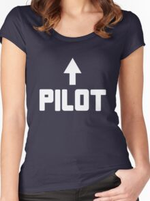 I'm the pilot geek funny nerd Women's Fitted Scoop T-Shirt