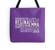 Swan Queen Nicknames (purple) Tote Bag