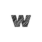 Sketchy Letter Series - Letter W (lowercase) by JHMimaging