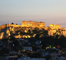 view from our window at the Astor hotel in Athens by Doug Cliff