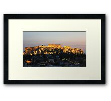 view from our window at the Astor hotel in Athens Framed Print