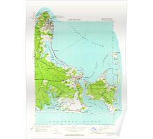 Massachusetts  USGS Historical Topo Map MA Edgartown 350122 1951 24000 Poster