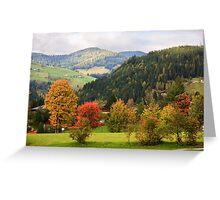 Autumn colours in Wagrain, Austria Greeting Card