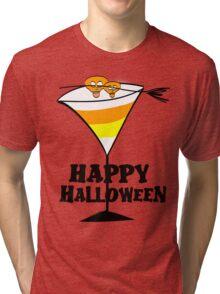 Halloween Candy Corn Martini Tri-blend T-Shirt